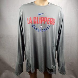 Nike LA Clippers Basketball Long Sleeve Size XXL